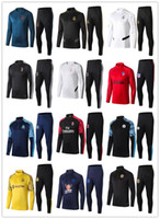 Wholesale 18 sports for sale - Group buy 2018 Ajax soccer Jacket Tracksuit chandal Real Madrid training suit Soccer Jersey training sports Jogging wear Survetement