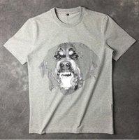 nouveaux lampadaires achat en gros de-Haute Nouvelle Nouveauté 19ss Hommes Haute Rottweiler Lumière 3d T-shirts T-shirt Hip Hop Planche À Roulettes Rue Street Coton T-shirts Tee Top Top # 36