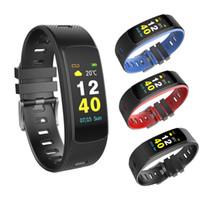 i6 bracelet élégant achat en gros de-Bracelet i6 HRC Bracelet de suivi de la forme physique Écran couleur Montre de suivi de l'activité physique Moniteur de fréquence cardiaque Smart Band Moniteur Bluetooth