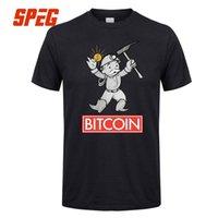 ingrosso migliori camicie maschili-Magliette Bitcoin Mining Miner Man Girocollo Manica corta T-Shirt di grandi dimensioni Stampa Maschile Best Tee Shirts Colletto cinture Vestiti