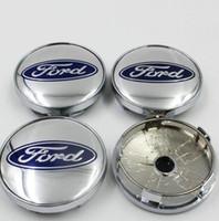 tapa de la rueda de etiqueta al por mayor-Coche del centro de rueda del casquillo de eje para la cubierta de la rueda ABS 60MM Ford Diseño de automoción etiqueta Badge Centro Covers GGA1735 la caja a prueba de polvo