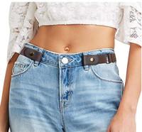 ayarlanabilir kuşak toptan satış-Toka-Ücretsiz Elastik Kemer Kot Pantolon Elbise Için Hiçbir Bulge Güçlük Kadın Erkek Kemer Streç Toka Olmadan Görünmez Kemer Ayarlanabilir Kuşak