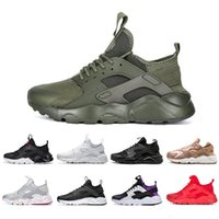 Wholesale huaraches red for sale - Group buy 2019 White Dot ACE Huarache IV Running Shoes Classic Triple Black red men women Brand Huaraches sports Sneakers