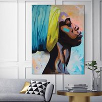 Wholesale painting portrait woman for sale - Group buy Abstract women portrait posters and prints canvas painting figure Picture wall art Picture home decor for living room bedroom