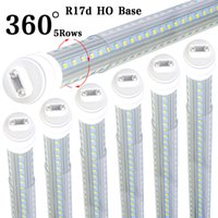 ingrosso zavorra per l'illuminazione-8-25pcs T8 LED Tube Light, 360 gradi 5 lati 8ft luce tubo a led, 8 piedi R17D HO Base, coperchio trasparente, Dual-Ended Power (Rialzo)