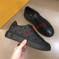 Wholesale original leather shoe for men resale online - xshfbcl Top Quality real leather lace up low top casual Single shoes for men Fashion shoes for man original outsole