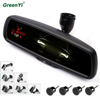 Wholesale car dim for sale - Group buy GreenYi s new automatic dimming interior rearview mirror with front and rear parking sensor mm sensor car