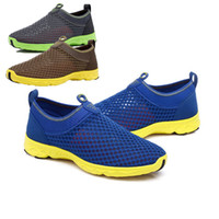 ingrosso shose gli uomini-Beach Shoes Uomo Sneakers Summer Mesh Breathe Casual Shoes Donna Hollow Sole Man Shose Trends 2019 Fashion # 3