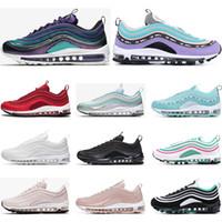 erkekler ayakkabı ebatları toptan satış-nike air max 97 klasik 97 ayakkabı Mens kadın Koşu Ayakkabıları Siyah Kırmızı Beyaz Eğitmen Yastık Yüzey Nefes Spor sneaker Ayakkabı boyutu 36-45