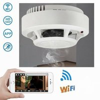 Wholesale remote controlled smoke detector for sale - HD WIFI Smoke Detector Mini Camera P Remote Control Smoke Detector Video Recorder with Real Smoke Detect Function Home Security camera