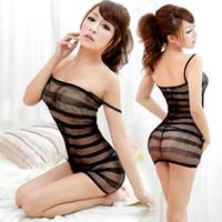 nouvelle tenue de nuit achat en gros de-Brand New Sexy Lingerie Maillot De Bain Résille Sex Toys Body Body Bas Robe Robe De Nuit Sous-Vêtements Sandy Beach
