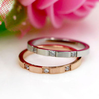 Wholesale simple gold diamond rings for women for sale - Group buy Wedding Rings For Women Simple Ring Color Silver Gold Jewelry Fashion Fine Jewelry CNC Imitation Diamond Ring