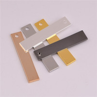 Wholesale stamp blanks resale online - 30 mm Rectangle Stamping Blank Tag Charms Brass Jewelry Accessories Falt Bar Charm Pendants For Necklace Jewelry Making