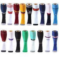 uzun futbol çorapları toptan satış-Yetişkin Çocuk Profesyonel Futbol Çorap avrupa Futbol Kulübü Çorap Diz Yüksek Nefes Spor Basketbol Uzun çorap Koşu