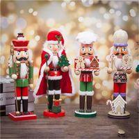 soldados modelo al por mayor-Multi Estilo nuez de regalo de Navidad de Santa Claus Soldados del hogar modelo de madera del ornamento Decoración Artes y artes populares cascanueces 30 5sbH1