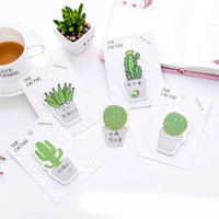 kawaii publicar marcadores al por mayor-Suministros Memo lindo Cactus cojín de la nota pegajosa pegatina Libro de apuntes Papel de nota etiquetas Papel de la oficina Accesorios de la escuela