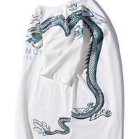 mavi baskı gömlek toptan satış-19ss lüks marka tasarım GIV Mektup logosu, küçük mavi ejderha baskı T-shirt Erkek Kadın Breatheable Moda Streetwear Tişörtü Açık