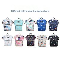 Wholesale hanged women cartoons resale online - Fashion Cartoon Mummy Bags Maternity Nappy Backpack Nursing Bag For Baby Care Floral Print Large Capacity Travel Hanging Diaper Bag