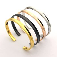 Wholesale fine c resale online - Hot Stainless Steel Fashion Open C type Lover Bracelets Bangles for Women love Groove Bracelets Pulseira fine Jewelry