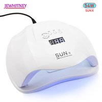 Wholesale 54w led lamp resale online - SUN X W Nail Dryer UV LED Lamp LCD Display LEDs Dryer Lamp for Curing Gel Polish Auto Sensing Nail Drying Manicure Tool Y191022