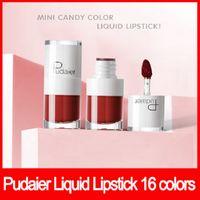 Wholesale long lasting moisture lipstick resale online - Hot Lip makeup Pudaier Matte Velvet Liquid Lipstick Colors Lipgloss Mini Long Lasting Moisture Lip Gloss dhl free