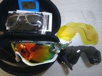 fahrrad-sonnenbrillen marken großhandel-2019 Mode Sonnenbrille Mit 4 Objektiv Marke Polarisierte Jawbreaker Sonnenbrille Für Männer Frauen Sport Radfahren Fahrrad Laufen Herren Sonnenbrille