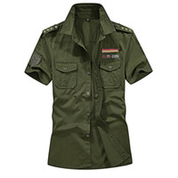 жирная мода оптовых- Man's Pilot Shirt Short Sleeve 4XL 5XL Summer Fashion Embroidery Slim Fat Cotton Casual Shirts Men  Clothing AE07