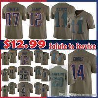Wholesale sale Tom Brady Rob Gronkowski Salute to Service New Jersey  Patriots Cooks Philadelphia Eagles Carson 7c7c65664