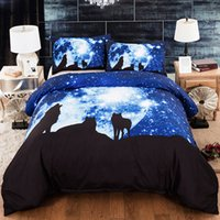 Wholesale twin wolf print bedding sets resale online - Wolf Printed Comforter Bedding Sets Duvet Cover Double Sheet Set Queen King Twin Size Bed Linen d Home Textile Double Bed Cover