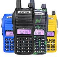 jambon telsiz portatif telsiz toptan satış-Baofeng UV82 Walkie Talkie Çift PTT UV 82 Portatif Çift yönlü Radyo VHF UHF Ham CB Radyo istasyonu 1 adet UV82 Av Transceiver