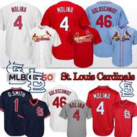 бейсбольные майки st louis оптовых-Сент-Луис-Джерси 4 Yadier Molina 46 Пол Гольдшмидт 25 Декстер Фаулер 150-мужчины бейсбола