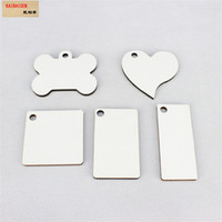 30 Shapes Sublimation Wooden Blank MDF Key Chain Fashion OEM White Key Rings For Heat Press Transfer Jewlery 2019 New