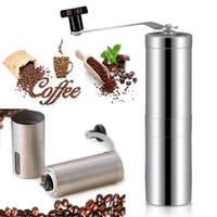Wholesale coffee bean grinders for sale - Group buy Manual Coffee Grinder Bean Conical Burr Mill For French PressPortable Stainless Steel Pepper Mills Kitchen Tools DHL WX9