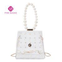 perlen mädchen handtaschen großhandel-Rosa Sugao Designer-Handtaschen Geldbörsen Geleebeutel Frauen Kettenbeutel Sommer Mädchen Schulter Perlen Tasche