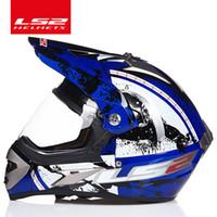 Wholesale ls2 helmet off road resale online - 100 Original LS2 MX433 off road motorcycle helmet with windproof shield motocross helmets suit for man woman ECE approved