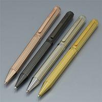 plumas cuadradas al por mayor-4 colores de lujo único metal cuadrado barril AP bolígrafo papelería oficina empresa proveedor mejor calidad tipo giratorio escribir bolígrafos de regalo