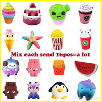 Wholesale toy chocolate resale online - Squishy Strawberry Cake ice cream chocolate squishies Slow Rising cm Soft Squeeze Cute Cell Phone Strap gift Stress kids toys