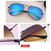 pez espejo al por mayor-Nuevo diseño de marca gradiente flash espejo aviación Gafas de sol Moda masculina uv400 Gafas de sol Pesca de viaje Gafas De Sol 002 / 4O 4W4J