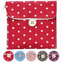 Wholesale dot napkins for sale - Group buy NEW Girl Sanitary Napkin Bag Brief Cotton Sanitary Storage Bag Travel Bags Woman Towel Holder Pouch Cosmetic Bags Cases
