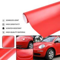 carros vermelhos matte venda por atacado-60 cm * 152 cm Vermelho Preto Branco Matte Bolha Livre Auto Adesivo Corpo Do Carro de Vinil Filme Envoltório Decoração Adesivo