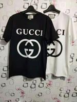 ingrosso camicie alfabeto-T-shirt di moda versatile degli studenti estivi della camicia a maniche corte dell'alfabeto 2019