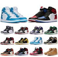 ingrosso anello allenatore-migliori scarpe firmate 1 OG scarpe sportive Mens Chicago 1S 6 anelli Sneakers scarpe da ginnastica scarpe da uomo DONNA MID New Love UNC Scarpe sportive taglia EU 36-47