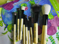 Wholesale wooden handle hair brush sets for sale - Group buy Bobbi Makeup tools Single blush makeup set kits brush Wool brush head Wooden handle cylinder set makeup tools