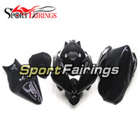 kit de carenado yamaha r6 race al por mayor-Racing Fiberglass Gloss Black Cowlings para Yamaha YZF-600 R6 Año 2006 2007 Kit completo de carenado de fibra de vidrio 06 07 R6 Kit de carrocería Nuevo