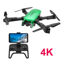 R8 4K HD Dual Camer WIFI FPV Foldable Drone Toy, Optical Flow Location, Take Photo by Gesture, Track Flight, Auto-follow, Altitude Hold, 3-1