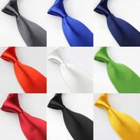 Wholesale marriage tie resale online - 8cm Group Tie Male Pure Blue Tie Marriage Business Monochrome Groomsman Tie