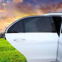 tampas de janela de malha venda por atacado-2 Pçs / lote Tampa Da Janela Do Carro Lado Sol Sombra Auto Parasol UV Proteção Capa Protetor Viseira Malha Do Carro Styling HHA121