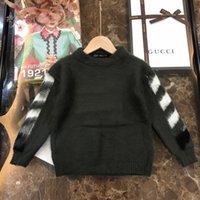 venta de algodón mezclado suéteres al por mayor-2019 venta caliente de lana Boy jersey de punto suéteres del suéter de cachemir ropa de los niños mezcló tejer suéteres 101607