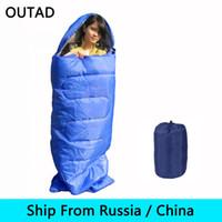 china envío rusia al por mayor-(Se envía desde Rusia / China) Saco de dormir liviano Camping para adultos Sobre para adultos Impermeable Mantener caliente para viajes de campamento