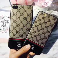 ingrosso disegni della pittura della lettera-Fashion Letter Brand Design Per iPhone XS max Custodia Anti-goccia Vernice per iPhone 6 6s 6plus 7 7plus 8 8plus X XR Cassa del telefono